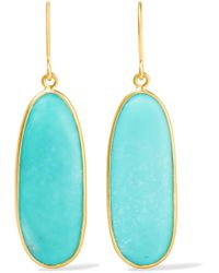 Pippa Small   18-karat Gold Turquoise Earrings   Lyst