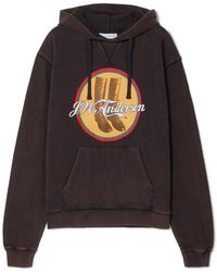 JW Anderson - Printed Cotton-terry Hoodie - Lyst