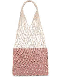 Loeffler Randall - Adrienne Macramé And Leather Tote - Lyst