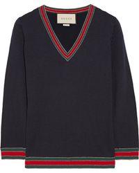 Gucci - Striped Wool Jumper - Lyst