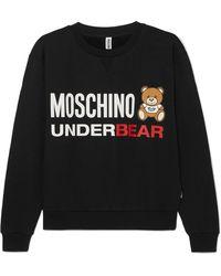 Moschino - Printed Cotton-jersey Sweatshirt - Lyst