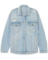 Stella McCartney - Oversized Distressed Denim Jacket - Lyst