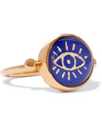 Katerina Makriyianni - Gold-plated Lapis Lazuli Ring - Lyst