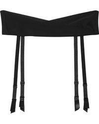 La Perla - Lace Flirt Wrap-effect Stretch-silk Suspender Belt - Lyst