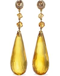 Fred Leighton - Collection 18-karat Gold Multi-stone Earrings - Lyst
