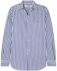 Junya Watanabe - Striped Poplin Shirt - Lyst