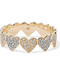Sydney Evan - Eternity Heart 14-karat Yellow And White Gold Diamond Ring - Lyst