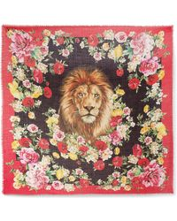 Dolce & Gabbana - Frayed Floral-print Cashmere And Silk-blend Scarf - Lyst