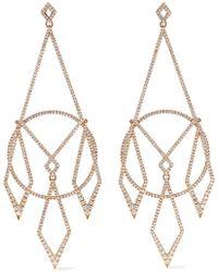 Diane Kordas - 18-karat Rose Gold Diamond Earrings - Lyst