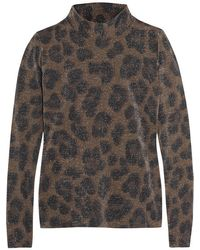 Topshop Unique - Sidgwick Leopard-print Jersey And Lurex Top - Lyst