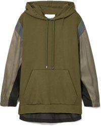 Koche - Paneled Cotton-jersey, Twill And Piqué Hoodie - Lyst
