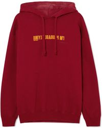 Vetements - Embroidered Cotton-blend Jersey Hoodie - Lyst