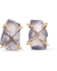 Melissa Joy Manning - 14-karat Gold Iolite Earrings - Lyst