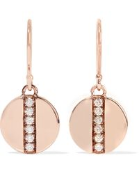 Ippolita Senso® Stardust 18-karat Rose Gold Diamond Earrings