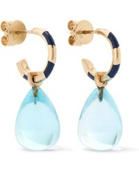 Alice Cicolini - Memphis 14-karat Gold, Enamel And Topaz Hoop Earrings - Lyst