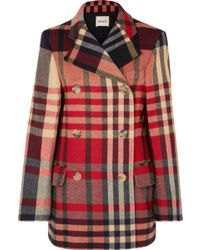 Khaite - Clara Double-breasted Checked Wool And Cashmere-blend Coat - Lyst