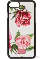 Dolce & Gabbana - Floral-print Textured-leather Iphone 7 And 8 Case - Lyst