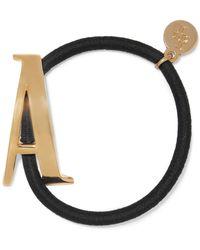 LELET NY - Gram Letter Gold-plated Hair Tie - Lyst