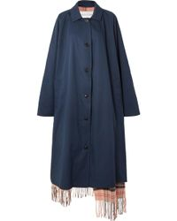 Vetements - Oversized Reversible Gabardine And Tartan Wool Trench Coat - Lyst