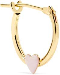 Alison Lou - Huggy 14-karat Gold Enamel Hoop Earring - Lyst
