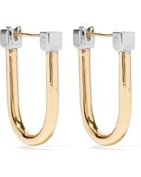 Uribe - Willie Gold And Rhodium-plated Earrings - Lyst
