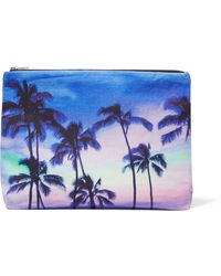Samudra | Haleiwa Printed Cotton-canvas Pouch | Lyst