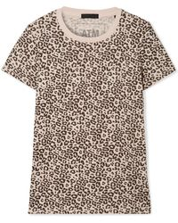 ATM - Schoolboy Leopard-print Slub Cotton-jersey T-shirt - Lyst