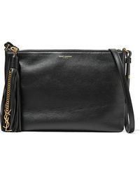 Saint Laurent - Monogramme Teen Tasselled Leather Shoulder Bag - Lyst