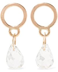 Melissa Joy Manning - 14-karat Gold Aquamarine Earrings - Lyst