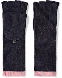Rag & Bone - Jubilee Metallic Merino Wool-blend Fingerless Gloves - Lyst
