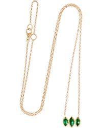 Brooke Gregson | 18-karat Gold Emerald Necklace | Lyst