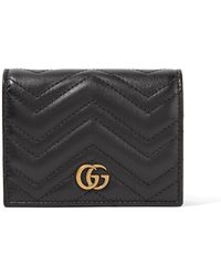 Gucci - Gg Marmont Small Quilted Leather Wallet - Lyst