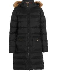 Pyrenex | Authentic Faux Fur-trimmed Quilted Shell Down Coat | Lyst
