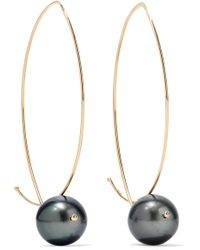 Mizuki - 14-karat Gold Pearl Earrings - Lyst