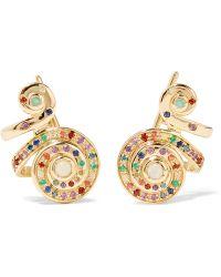 Venyx - Moonshell 18-karat Gold Multi-stone Earrings - Lyst
