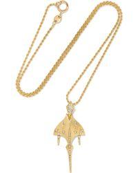 Venyx - Tiger Ray 18-karat Gold Diamond Necklace - Lyst