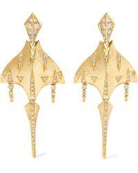 Venyx - Tiger Ray 18-karat Gold Diamond Earrings - Lyst