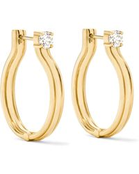 Melissa Kaye - Jen Maia 18-karat Gold Diamond Hoop Earrings Gold One Size - Lyst