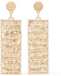Eddie Borgo - Fleece Gold-plated Cubic Zirconia Earrings - Lyst