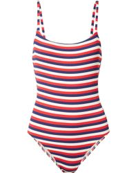 The Nina Stretch-piqué Swimsuit - Navy Solid & Striped Wiki Cheap Price HHHdlIJy2
