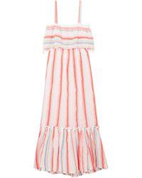 lemlem - Asha Tiered Striped Cotton-blend Gauze Maxi Dress - Lyst