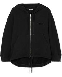 Balenciaga - Cocoon Printed Stretch Cotton-blend Jersey Hoodie - Lyst