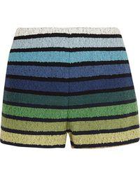 Sonia Rykiel - Striped Cotton-blend Terry Shorts - Lyst