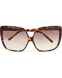 Linda Farrow - Cat-eye Tortoiseshell Acetate And Gold-tone Sunglasses Tortoiseshell One Size - Lyst