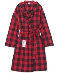 Vetements - Oversized Hooded Checked Cotton-flannel Jacket - Lyst