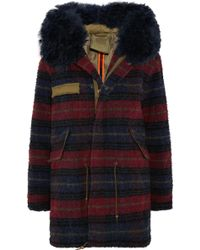 Mr & Mrs Italy - Shearling-trimmed Boiled Wool Parka - Lyst