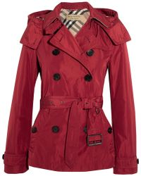 Burberry Brit - Hooded Shell Trench Coat - Lyst