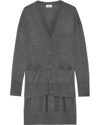 DKNY - Asymmetric Stretch-knit Cardigan - Lyst