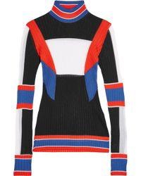 Emilio Pucci - Color-block Ribbed-knit Jumper - Lyst