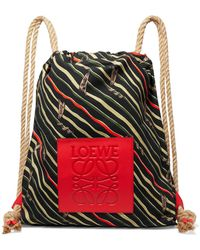 Loewe - + Paula's Ibiza Yago Leather-trimmed Printed Cotton-canvas Backpack - Lyst